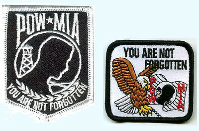 POW MIA PATCH /'YOU ARE NOT FORGOTTEN/' PATCH WHITE POW US EAGLE PATCH