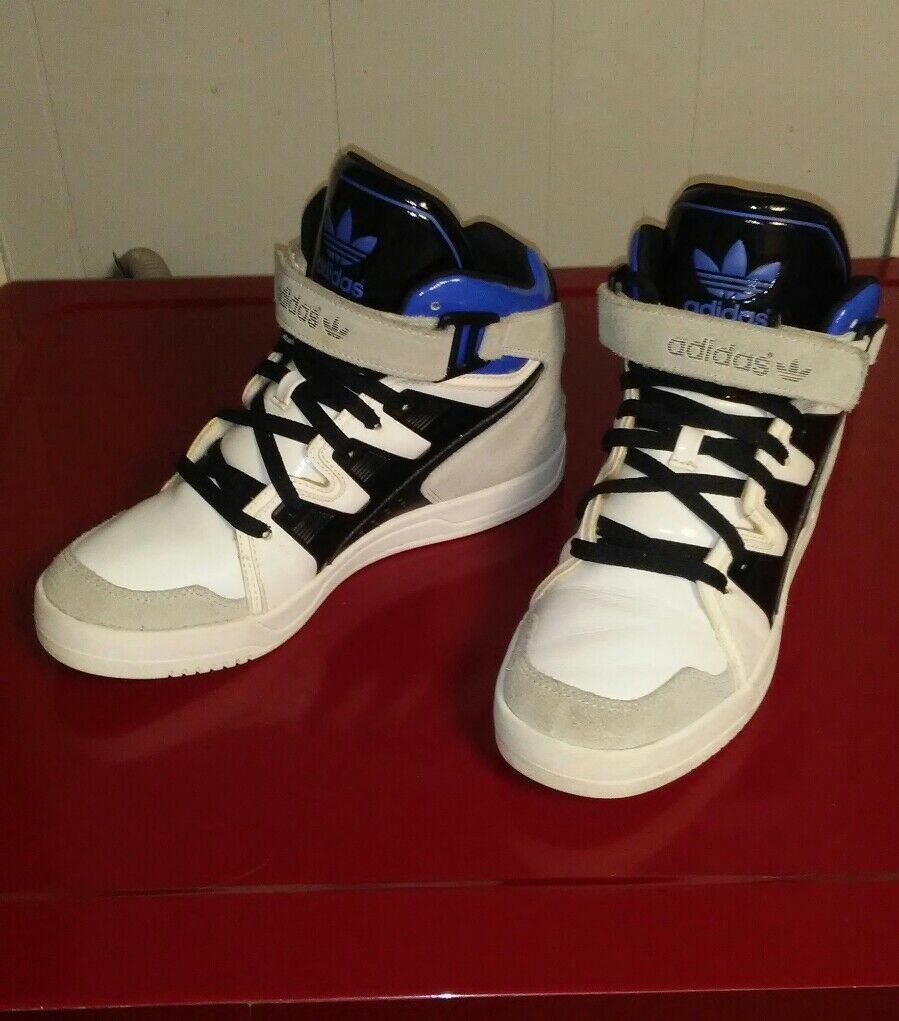 Adidas Originals Nice Shoes Men's White/Black/Blue Sneakers SIZE 8 1/2 M19843 Seasonal clearance sale