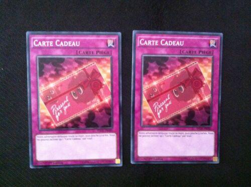 yugioh LOT DE 2 Carte Cadeau INOV-FR080 VF//COMMUNE SHORT PRINT