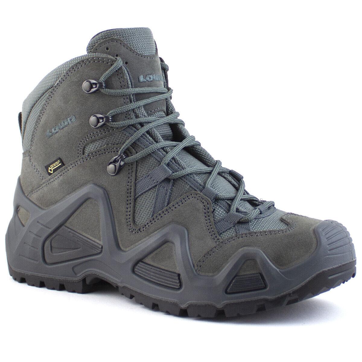 Lowa Zephyr GTX Mid TF Para Hombre Táctica Impermeable Gore-Tex botas Para Caminar gris