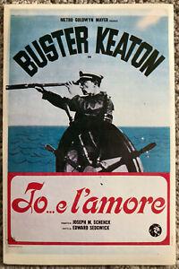 E L'amore Trotzheirat Gut FüR Energie Und Die Milz Filme & Dvds Film-fanartikel Aggressiv Poster Plakat Aufkleber Sticker 1973 Buster Keaton Io..