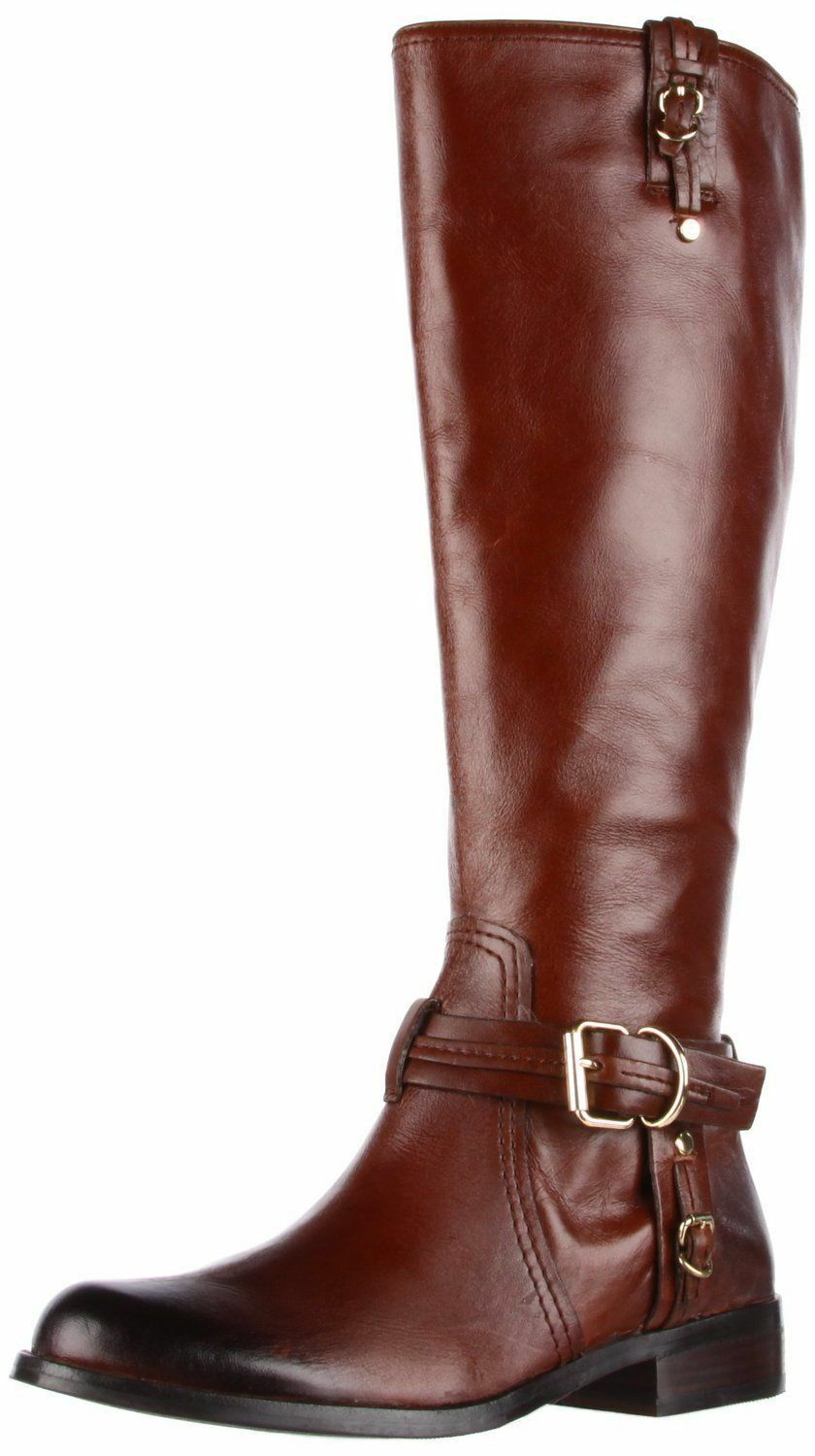 New VC Vince Camuto Womens KABO Rich Cocoa Rich Calf Luxe Leather Boots 6 M  210