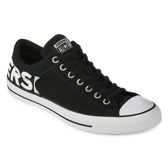 Converse Chuck Taylor All Star 160108F CTAs High Street Black White Mens Shoes