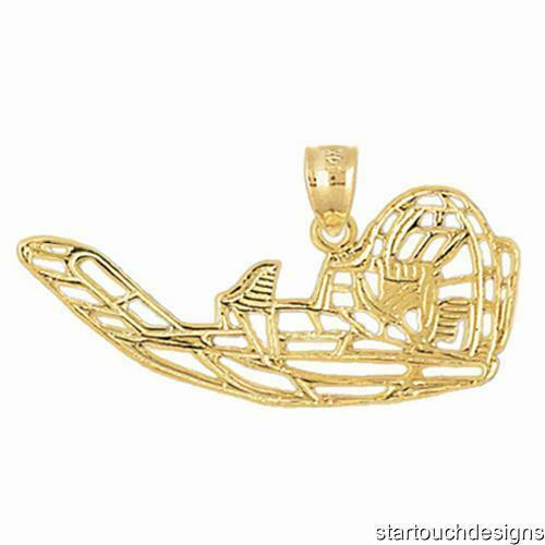 New 14k Yellow gold Airboat Pendant