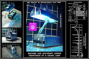SUN-KRAFT JR Machine Age SW UV&Ozone Generator - Chicago circa 1950 Kills Virus!