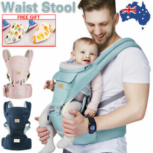 Infant-Baby-Carrier-With-Hip-Seat-Waist-Adjustable-Wrap-Sling-Backpack-Ergonomic