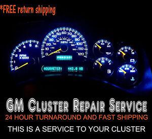 2004 chevy 2500hd gauge cluster repair
