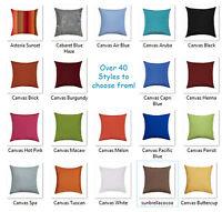18x18 Sunbrella Outdoor Pillow Cover Solid Canvas Zippered Pillow Cover 45cm
