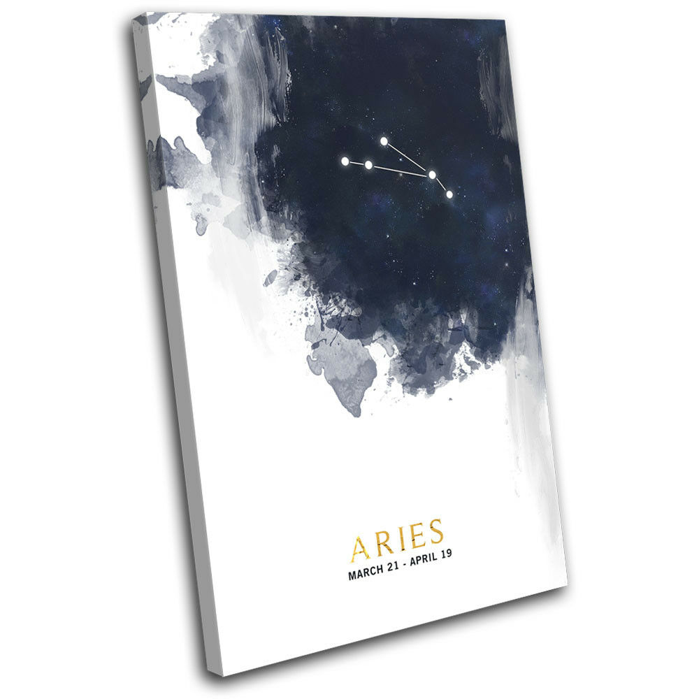Aries Aries Aries Zodiac Constellation Starsign SINGLE TELA parete arte foto stampa 548022