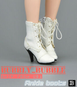 """1//6 Scale Women Ankle Boots For 12/"""" Hot Toys Phicen Kumik Female Figure USA"""
