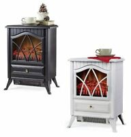 Electric Stove Fireplace Heater 400sq Ft Free Standing Portable Furnace 4600 Btu