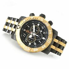 Invicta 17551 Men Swiss Sea Base Gold Black Titanium Strap Limited Edition Watch