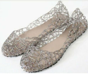 Lin01-Womens-Hot-Sale-Ventilate-Crystal-Shoes-Jelly-Hollow-Sandals-Flat-Shoes-Fr