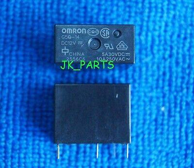 10pcs 5pins 12VDC G5Q-14-DC12V 10A 250VAC OMRON Relay