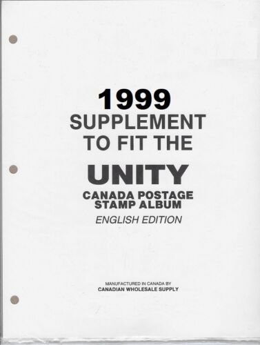 CWS Canada Unity 1999 Full Colour Stamp Album Supplement Pages - List $16.99