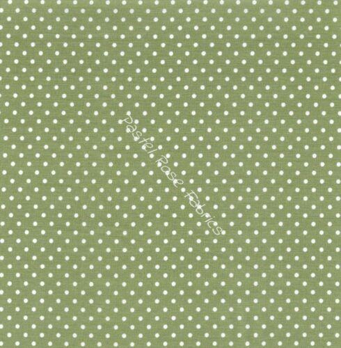 3 mm Spots Pois tissu 100/% tissu de coton-vêtements Patchwork Craft