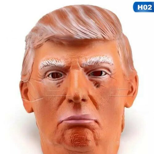 Donald Trump Costume Mask Realistic Latex Masquerade Carnival Mask UK LuSir Minw