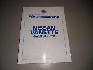 Auto & Motorrad: Teile Nissan Vanette C120 Werkstatthandbuch Wartungsanleitung