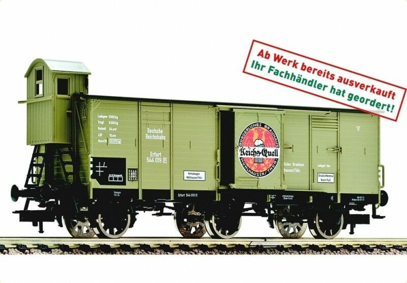 FLEISCHMANN 53808 DRG K 65533; (hell -55333;hlwagen  Bierwagen 544 019 Reichs -Quell Ep II KK H0 NEU)