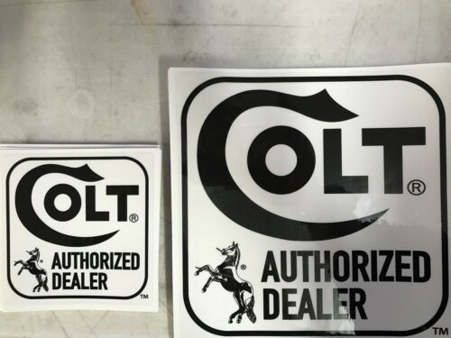 Original Colt Authorized Dealer Stickers-large /& Small Worldwide ship