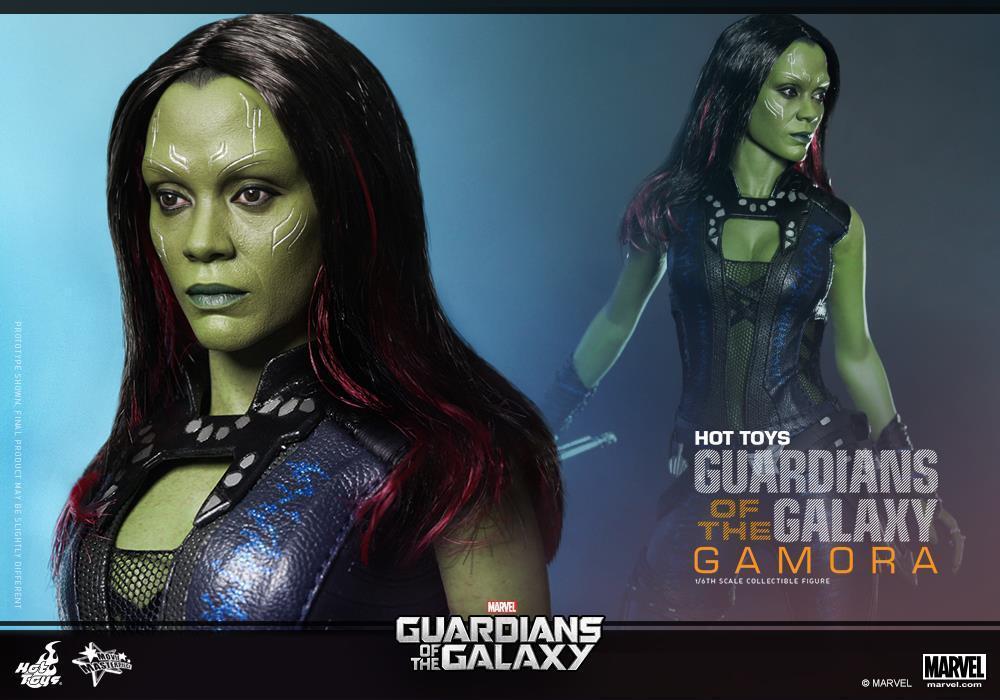 Hot Toys Guardians of the Galaxy GAMORA MMS259 Zoe Saldana New   Sealed Shipper