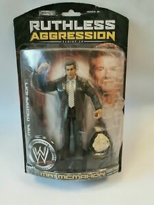 WWE-Ruthless-Aggression-Series-28-Mr-McMahon-figure-with-Belt-Jakks-Pacific