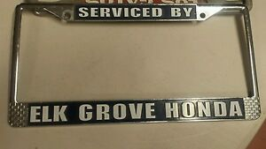 Image Is Loading RARE Elk GROVE HONDA CA Vintage Dealer License
