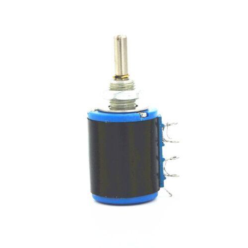 5PCS WXD3-12 2W 220 ohm Rotary Multi-turn Wirewound Precision Potentiometer