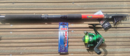 Lineaeffe 8ft Drago Telescopic Spinning Rod & SL100 Reel++bass wedge ready to go