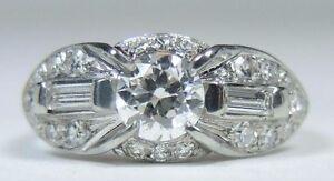 Antique-Art-Deco-Vintage-Engagement-18K-White-Gold-Ring-Size-5-UK-J1-2-EGL-USA