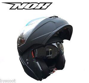 Casque-modulable-NOX-N964-noir-mat-double-ecran-solaire-moto-scooter-route-NEUF