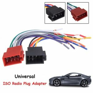pair Universal Car Stereo Socket Radio ISO Wire Harness ... on car stereo alternators, car speaker, car fuse, 95 sc400 stereo harness, car stereo sleeve, car wiring supplies, leather dog harness, car stereo cover, car stereo with ipod integration,