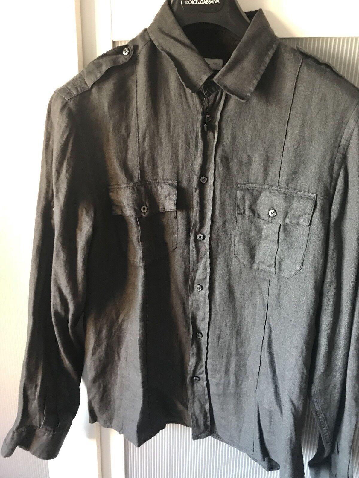 ETRO men linen shirt superb design and quality 100% authentic size L