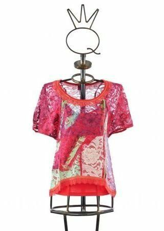 Save The Queen  Floral Lace Cotton Flarot Tunic