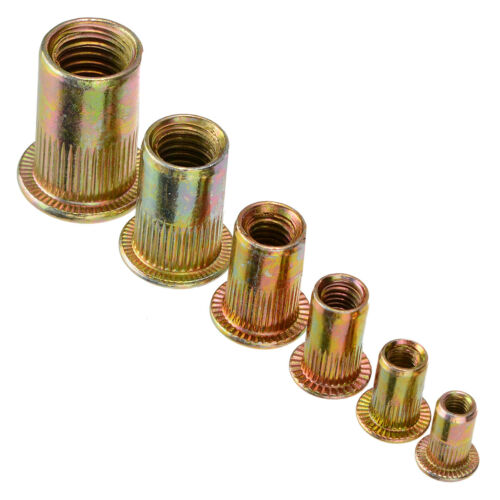 175pcs Set Rivet Nut Kit Mixed Zinc Steel Rivnut Insert Nutsert Threaded M3-M10