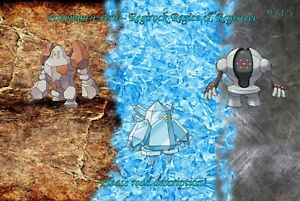 Regirock/Regice/Registeel HA Event 6IV- Pokemon X/Y OR/AS S/M US/UM Sword/Shield