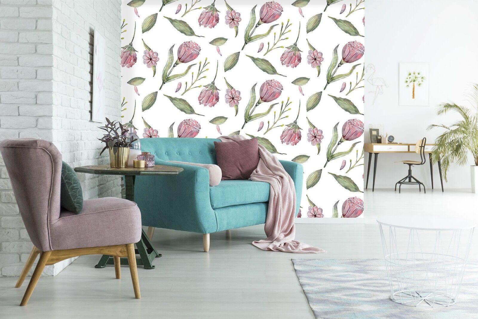 3D ROT Flower Floral 78 Wallpaper Mural Paper Wall Print Indoor Murals CA Summer