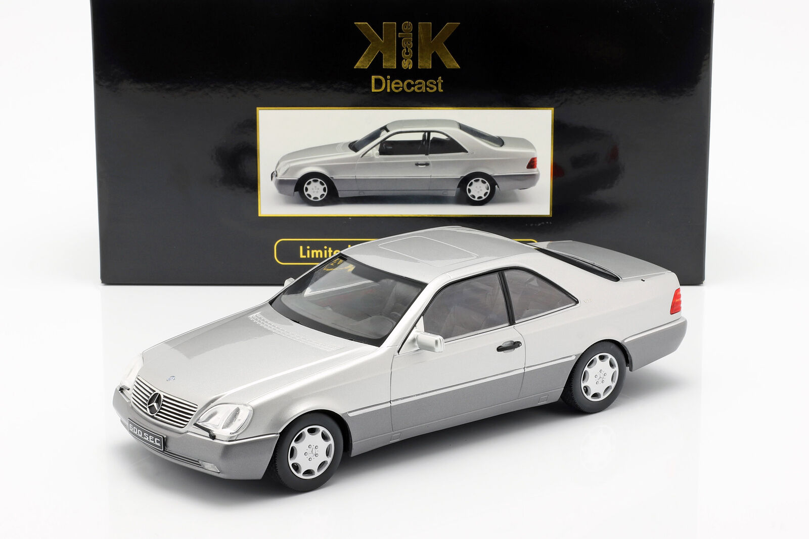 Mercedes-benz 600 SEC (c140) año de fabricación 1992 plata 1 18 KK-Scale