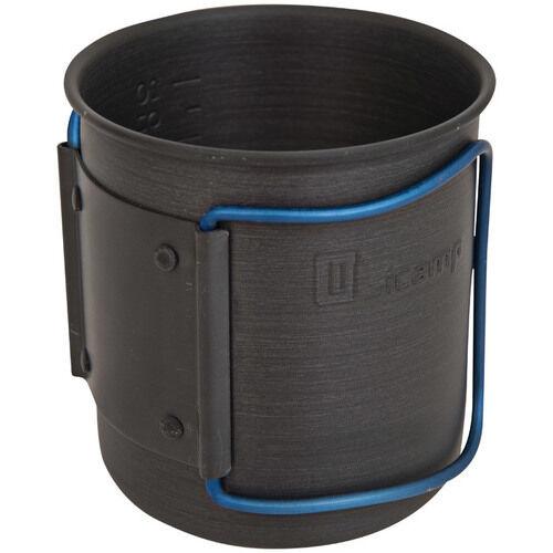NEW Olicamp Travel Mug 330449 Blue Space Saver Hard Anodized Backpacking Camping