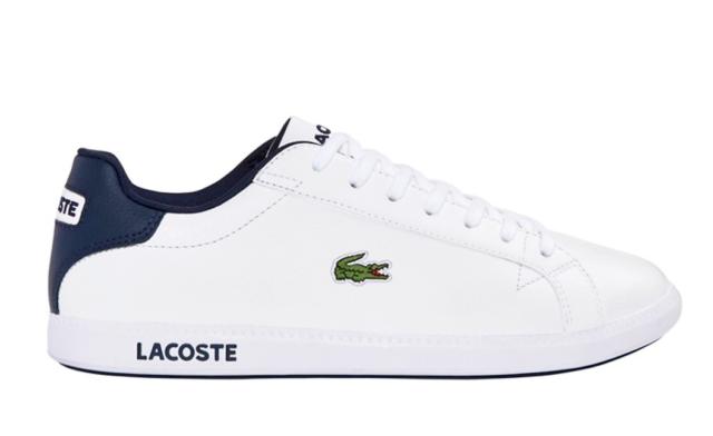 Lacoste Graduate LCR SPM Sneaker Turnschuhe schwarz Leder Gr 42 42,5 46,5 NEU