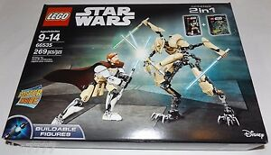 itm LEGO Star Wars OBI WAN KENOBI vs GENERAL GRIEVOUS  Buildable Figures