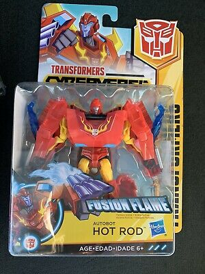 """Hot Rod Fusion Flame Cyberverse Transformer Action Figure 4.5/"""" NEW"""