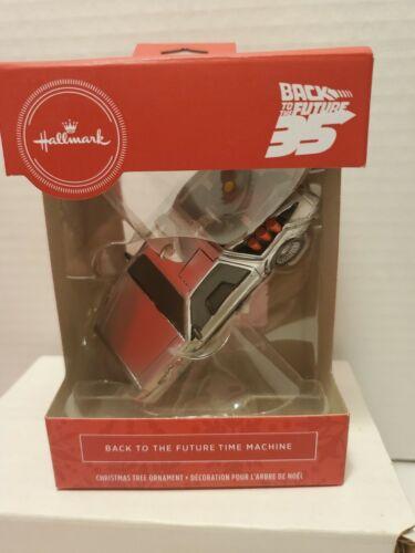 2020 Hallmark  Back To The Future 35th Anniversary Time Machine DeLorean Red Box