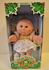 1997 mattel cabbage patch kids holiday baby blond girl special.