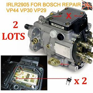 2 bosch vp44 vp30 vp29 injection pump repair transistor irlr2905 audi bmw ford ebay. Black Bedroom Furniture Sets. Home Design Ideas