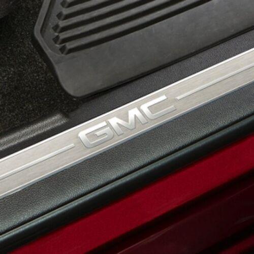 2014-2019 GMC Sierra Genuine GM Front Door Sill Plates Black 23114162