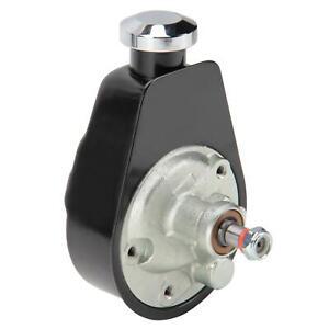 Tuff Stuff 6504B Black Power Steering Pump Bracket for Small Block Chevy