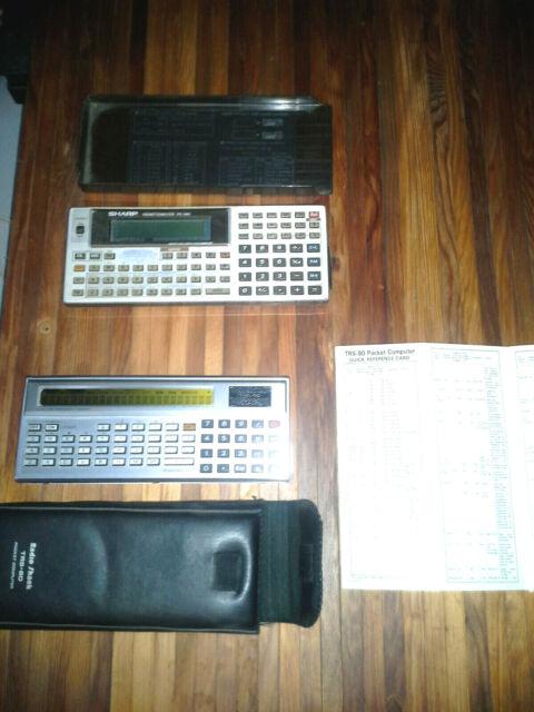 TRS-80 Pocket Computer + Sharp PC1460 Pocket Computer