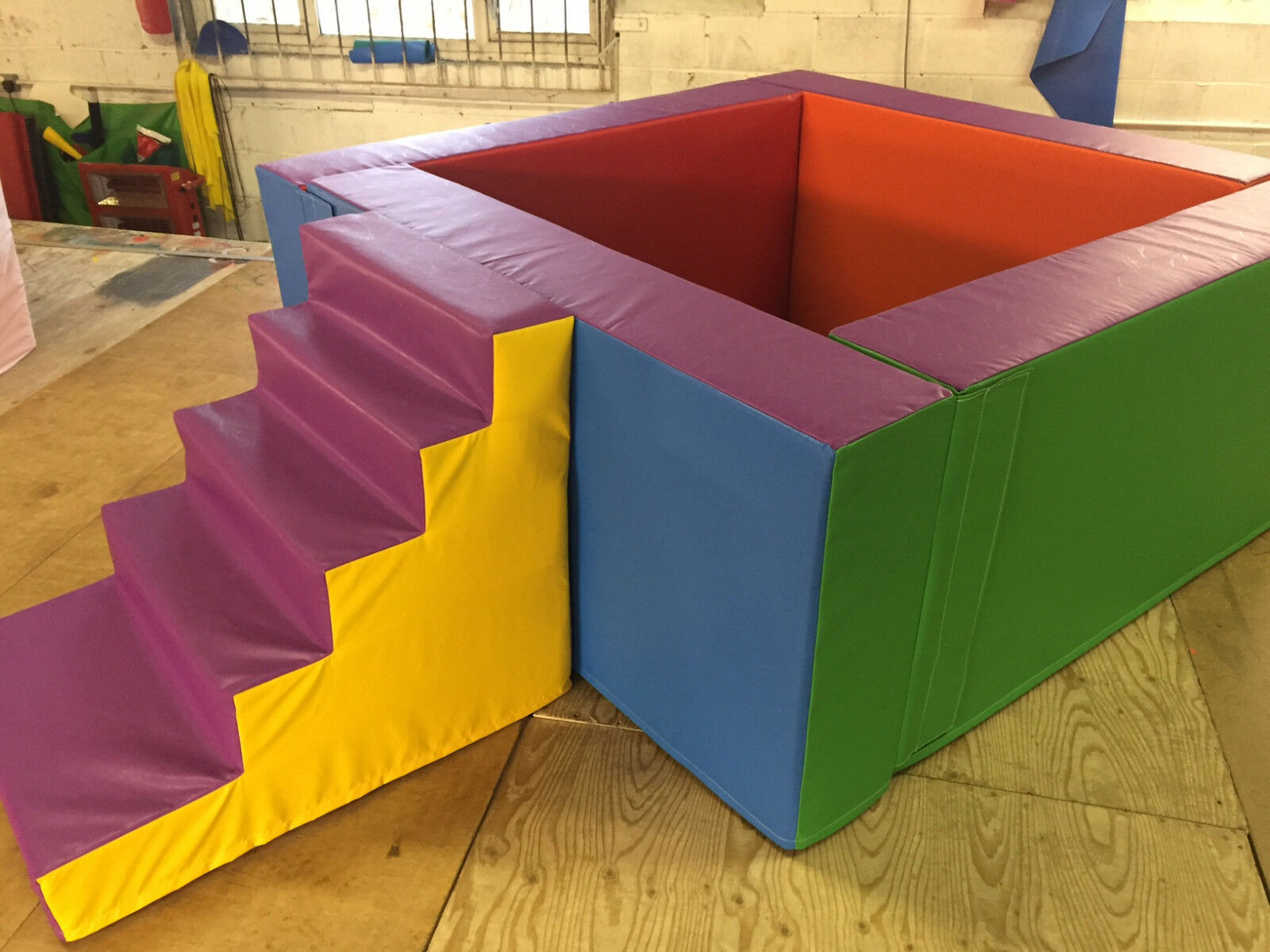 MADE TO ORDER Ball Pond  With Steps High Wall ANY SIZE MADE