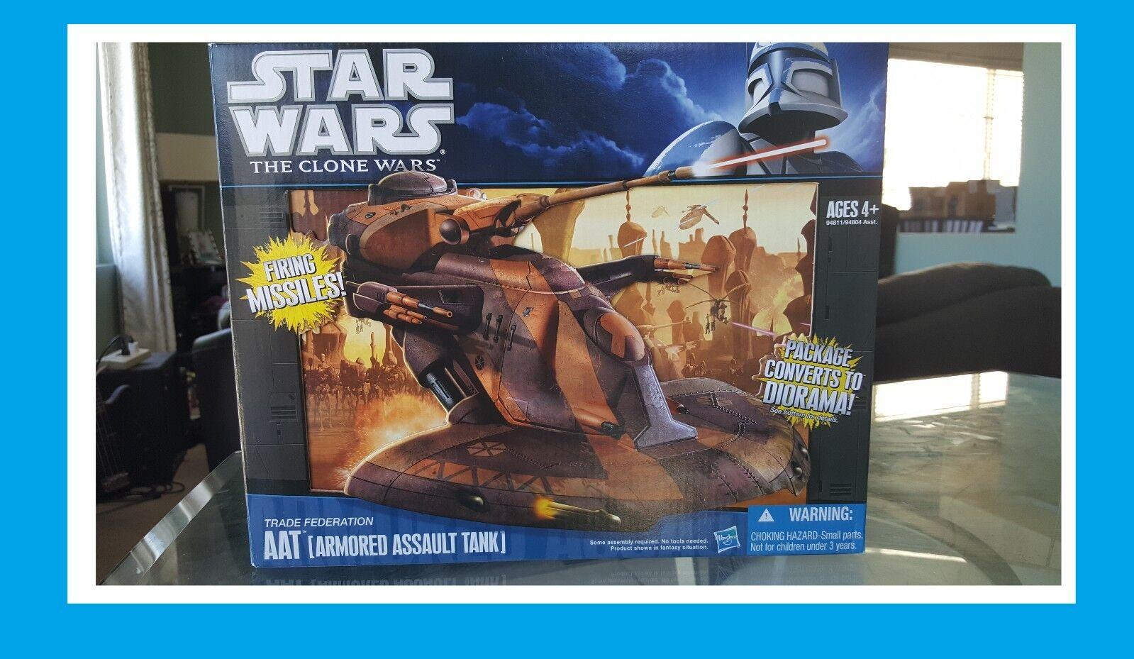 New Star Wars The Clone Wars Trade Federatio AAT ArmoROT Assault Tank DioramaBox